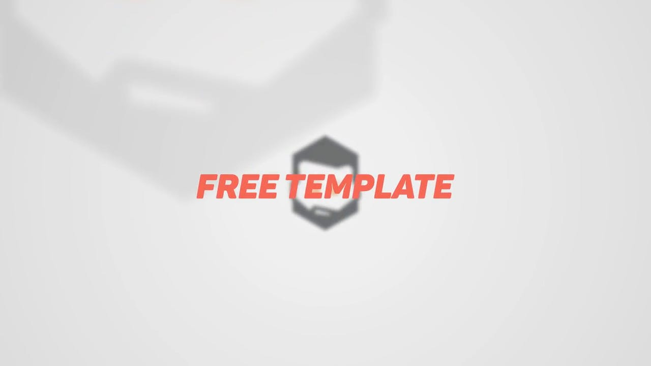 Simple 2D Intro template After Effects EDM Intro template