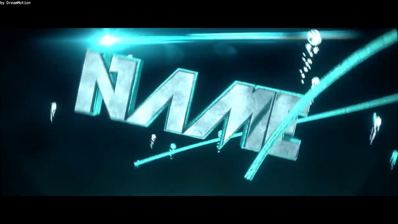 Silver Blue Green Intro template Blender only EDM Intro template