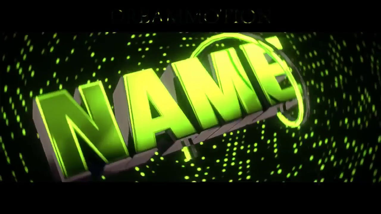 Cool Glowing Green Intro template Blender only EDM Intro template