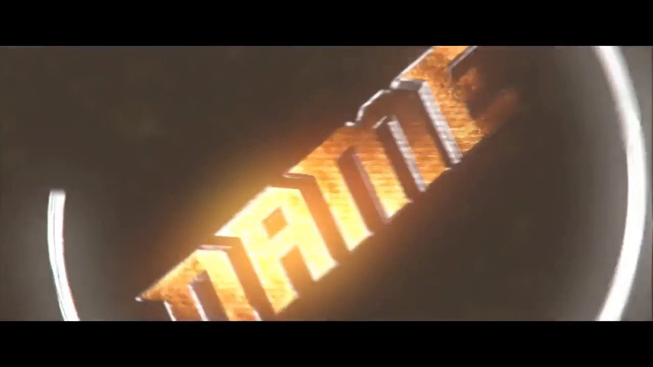 Metallic Silver Orange Intro template Cinema 4D After Effects Intro template
