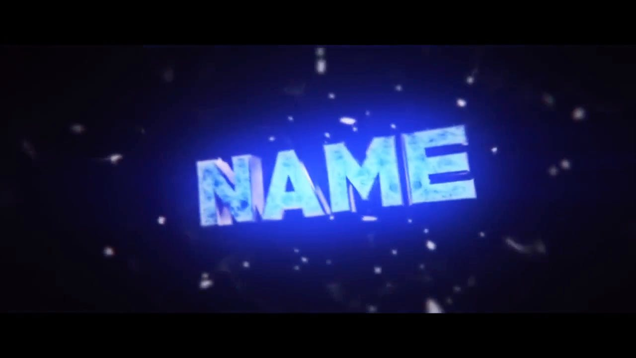 Glowing Blue Light Intro template Cinema 4D After Effects Intro template
