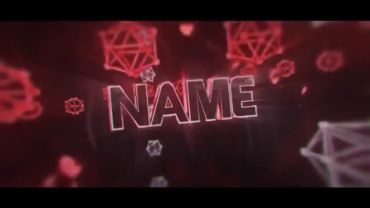 Amazing Fiery Red Intro template Cinema 4D After Effects Intro template