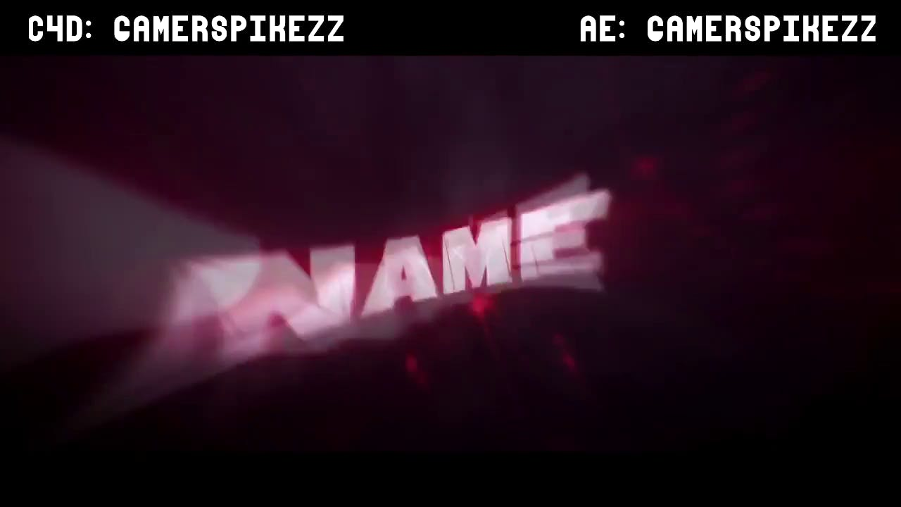Fiery Metallic Red Silver Intro template Cinema 4D After Effects Intro template