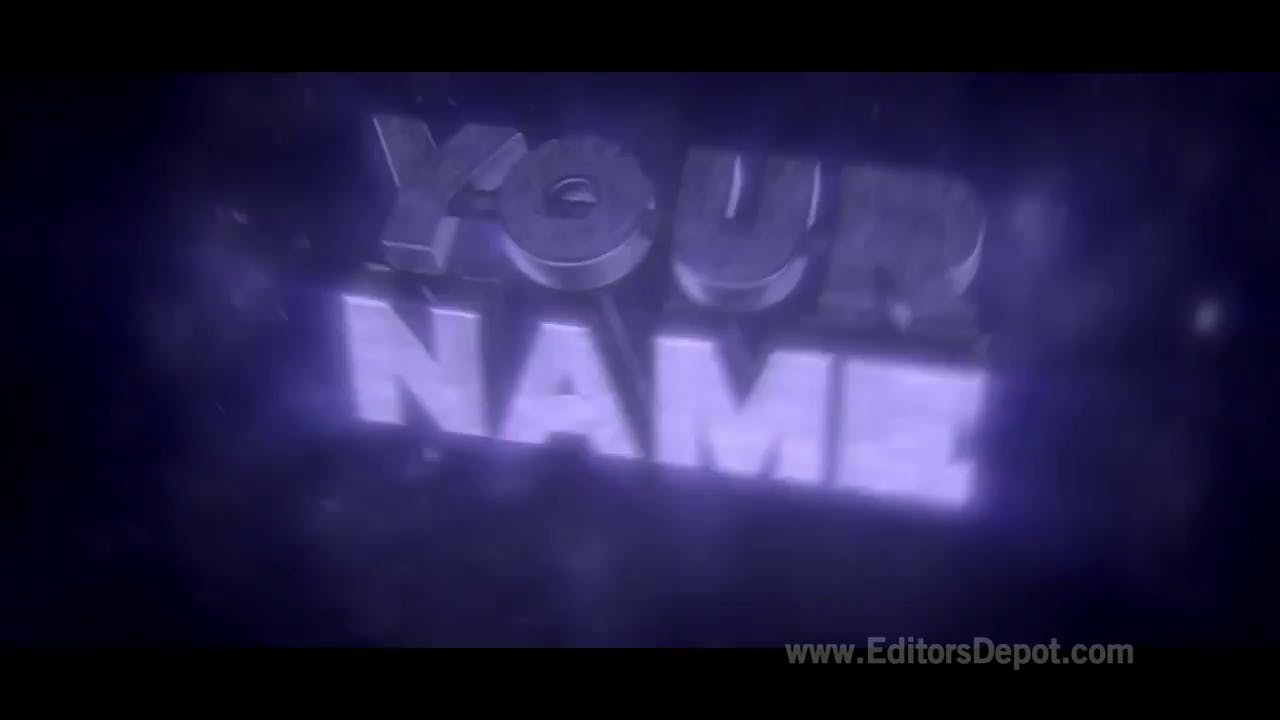 purple 3d pumps intro template