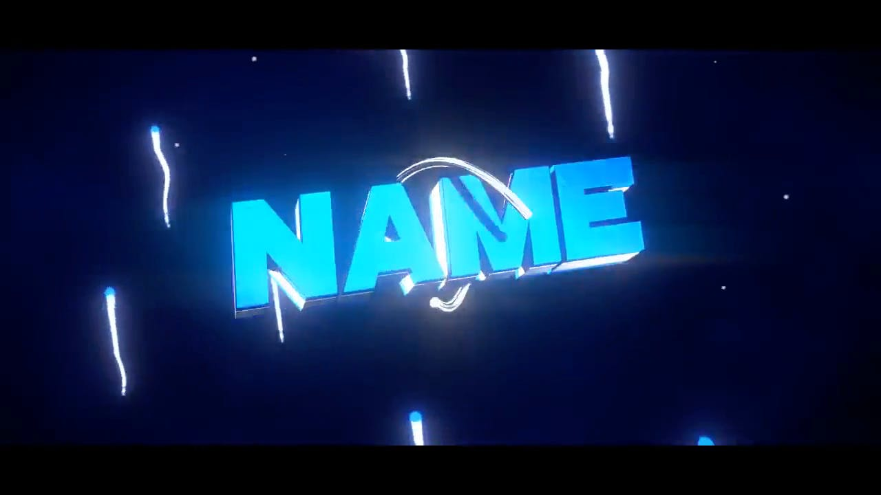 Sweet Green and Blue Blender only Intro template
