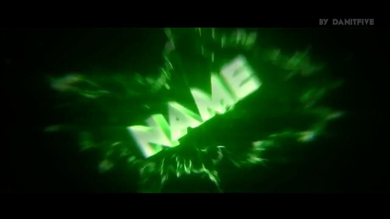 Explosive Green Sync Intro template EDM After Effects Cinema 4D