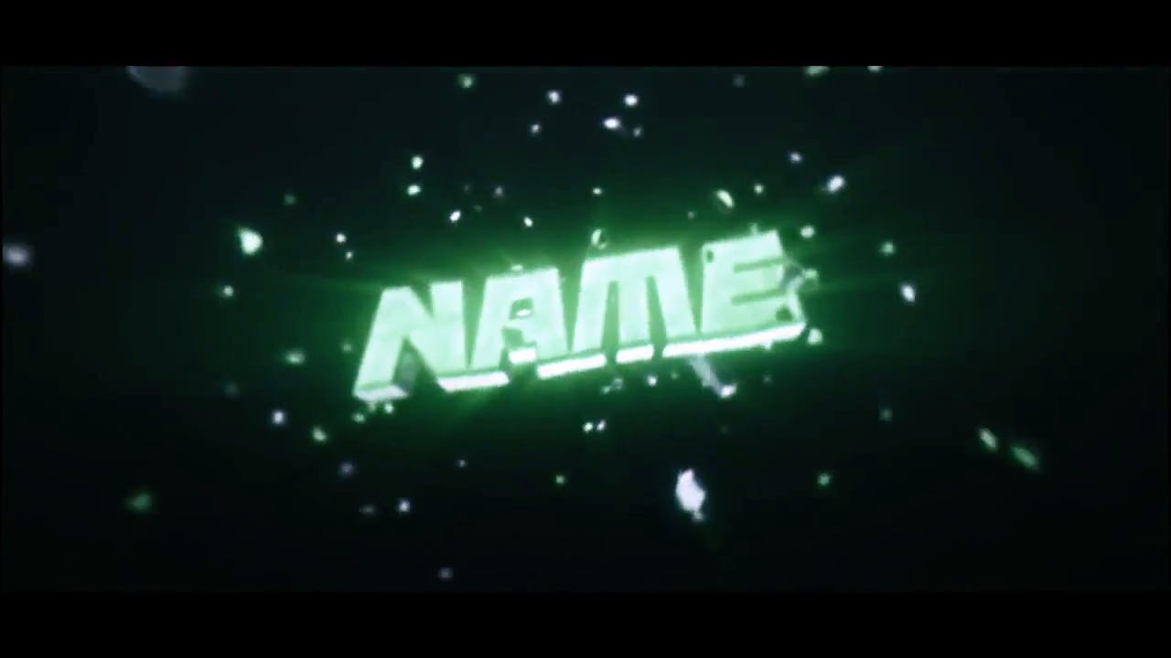 Glowing Silver Green Intro template EDM After Effects Cinema 4D