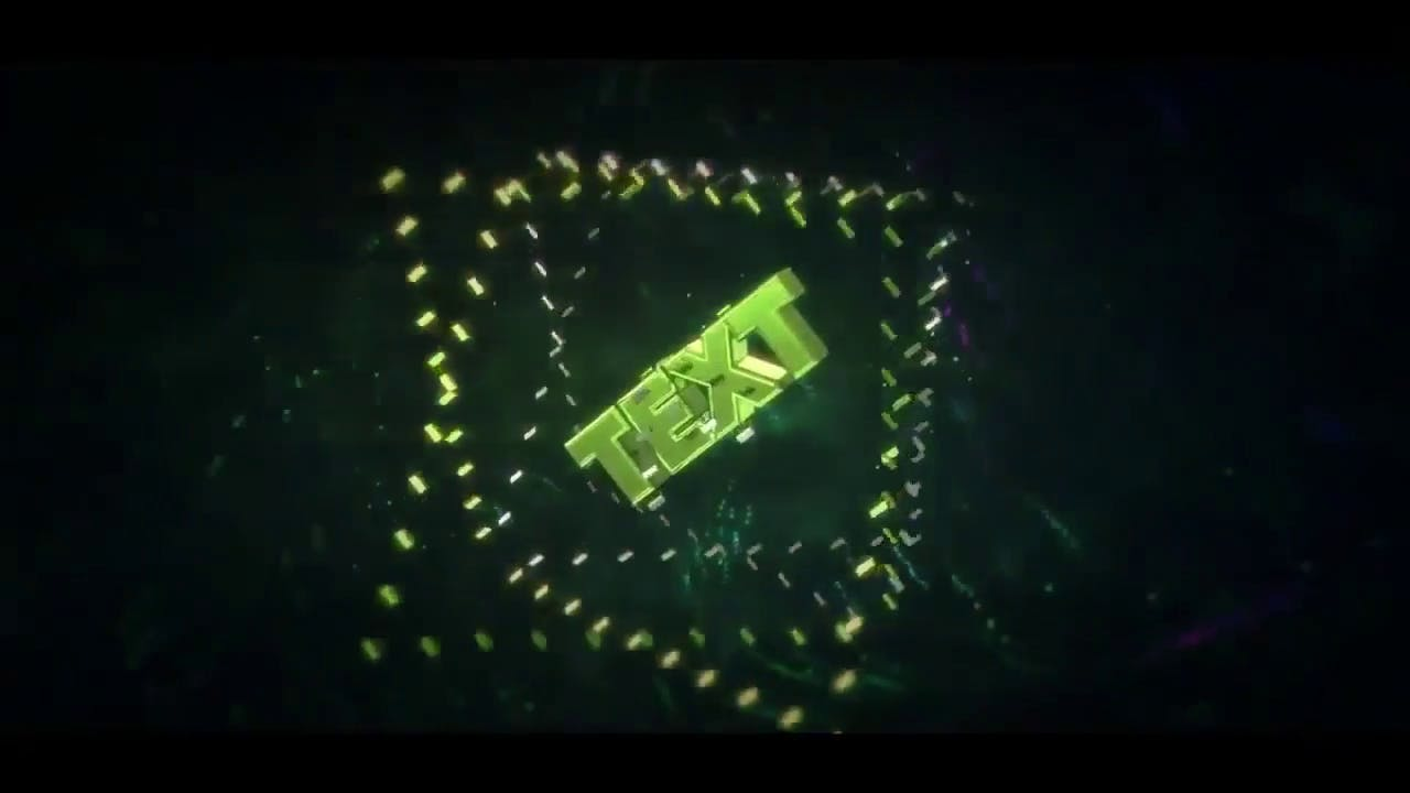 green unique upbeat 3d intro template