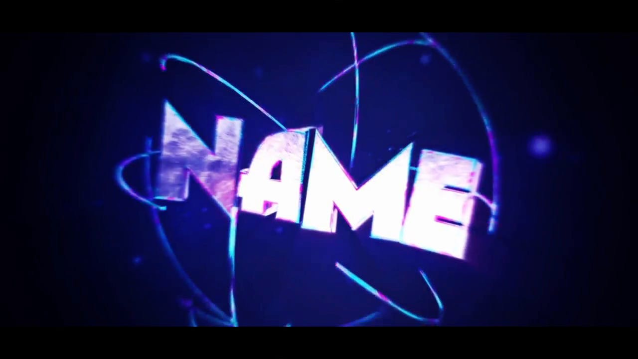 Blue 3D Intro template