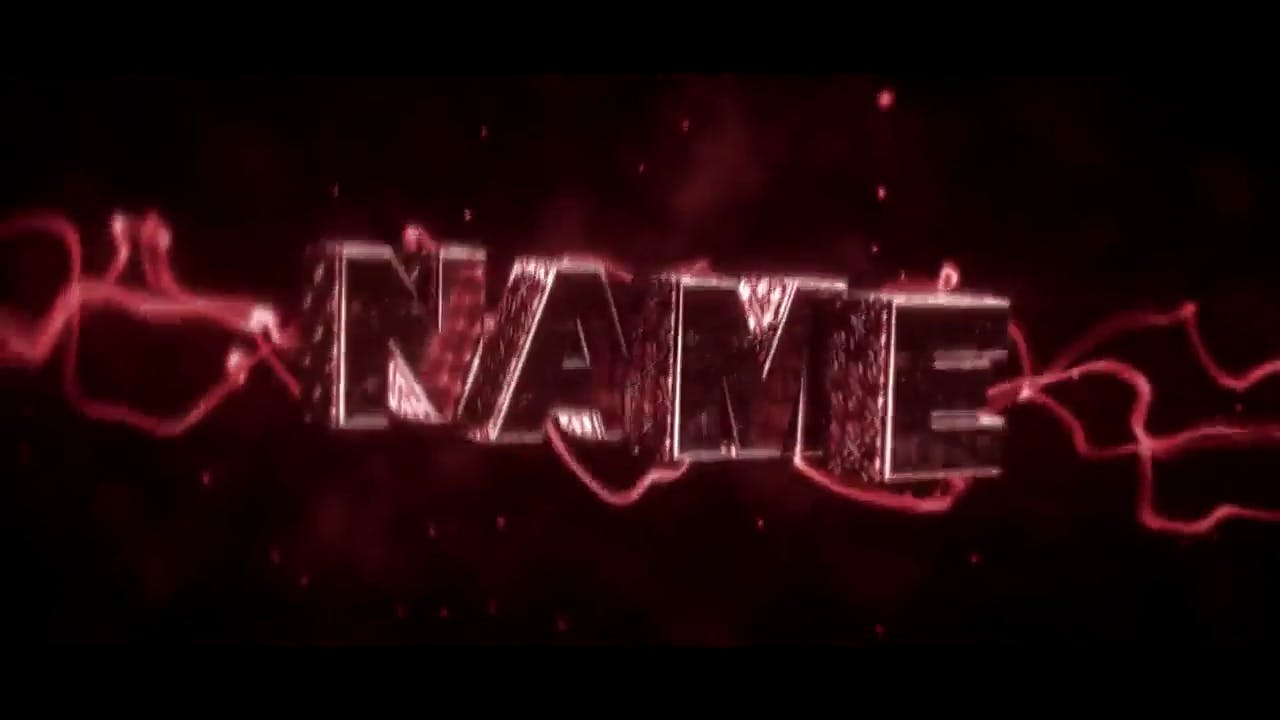 Red intro template