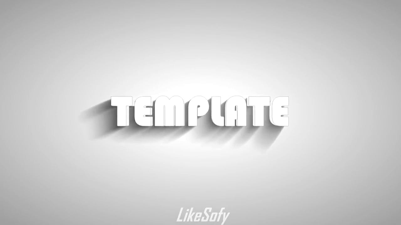 Simple White Turns Red Sony Vegas 3D Intro template