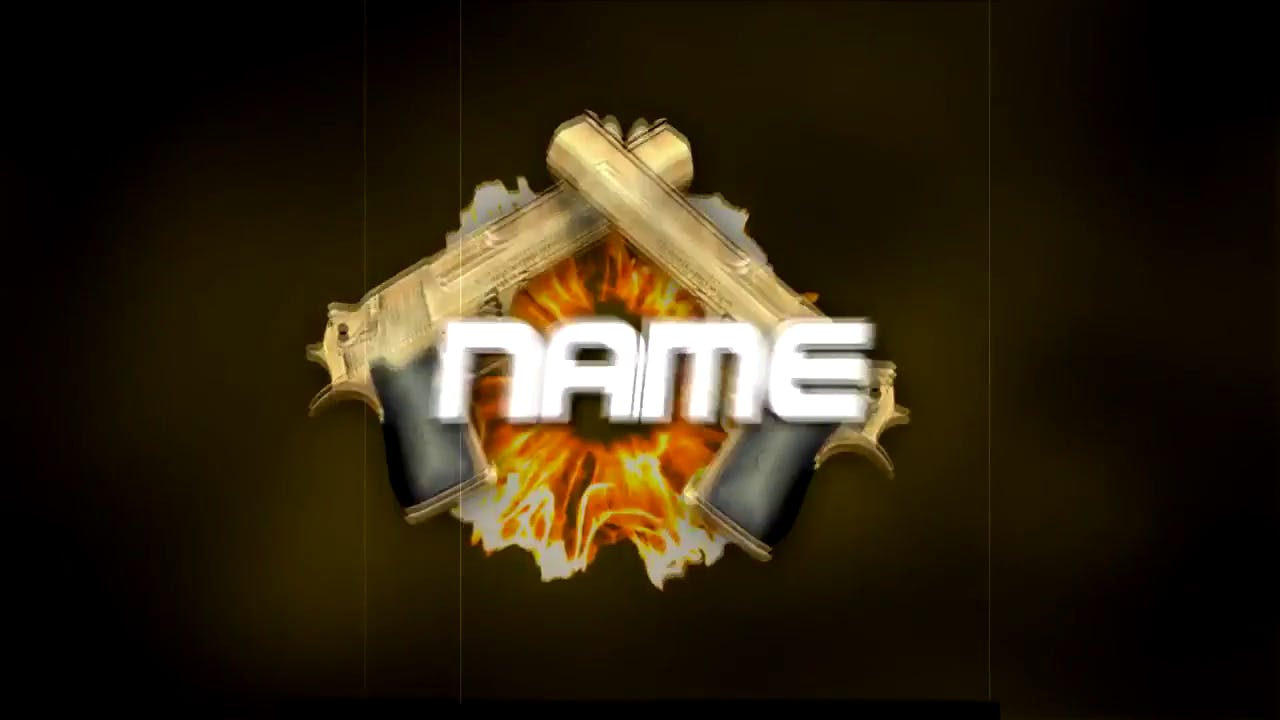 Gold Gun Firing Sony Vegas 3D Intro template