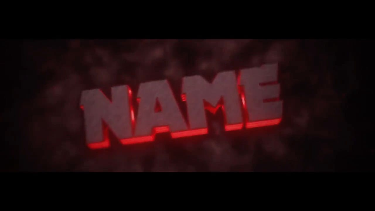 Metal Red Intro template Blender After Effects