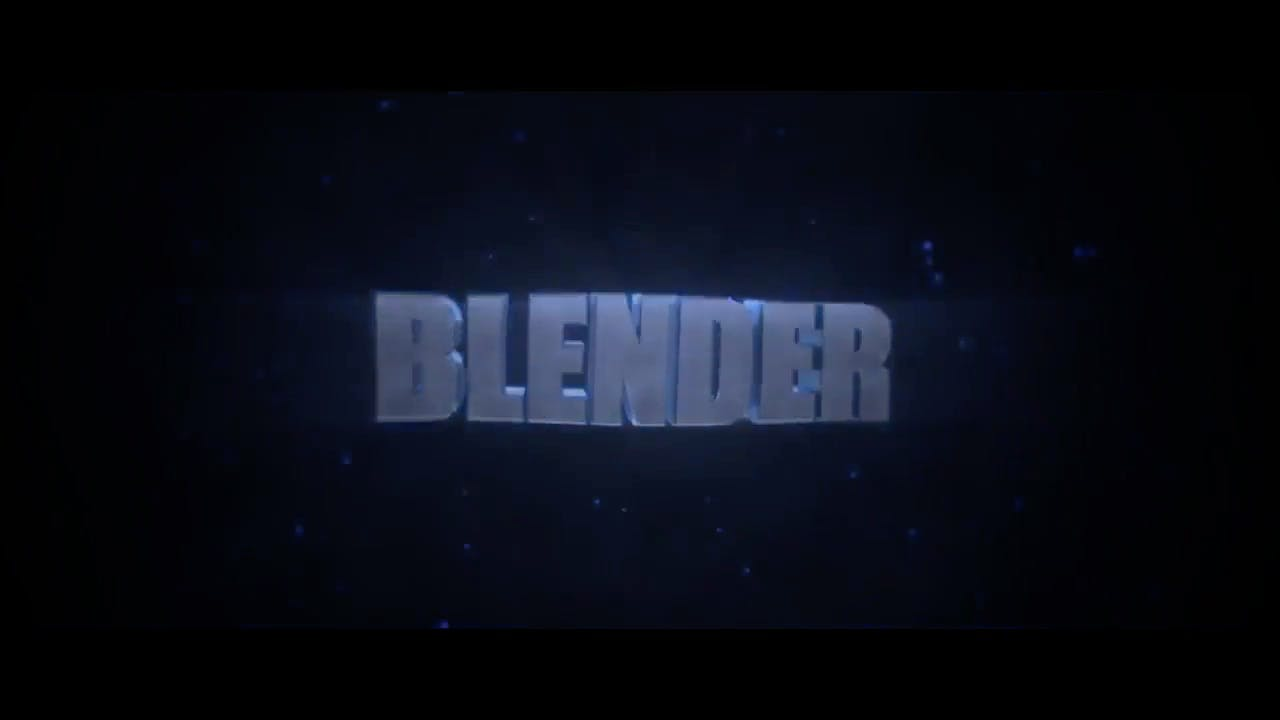 Spinning Blue 3D Blender Only Intro template