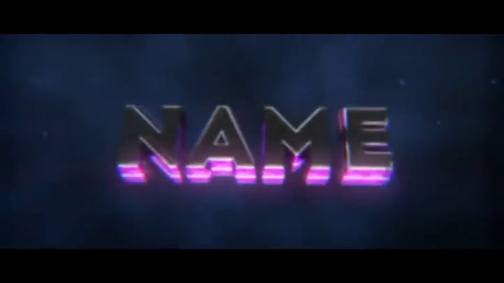 FREE Purple Glow SYNC 3D Intro Template After Effects Cinema 4D with Tutorial FREE 3D Intro 91