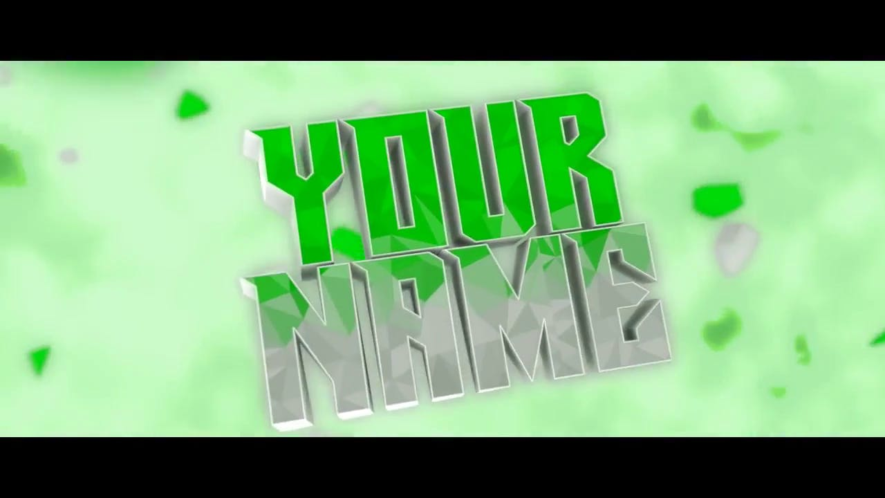 Cool Green and Silver Blender Only Intro template