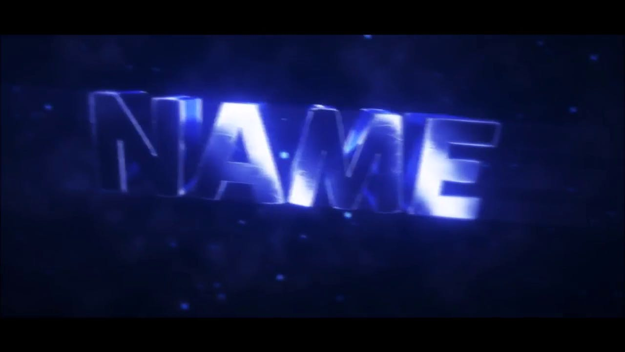 Shiny Blue Intro template Blender After Effects