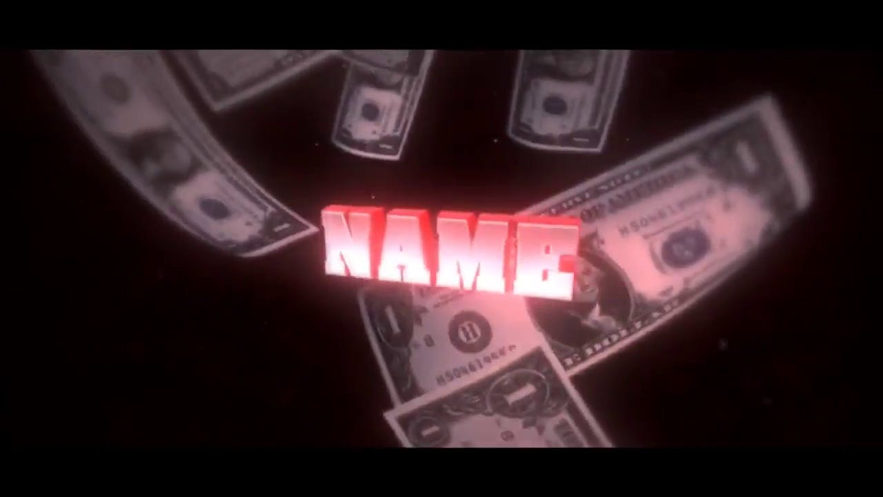 Raining Dollars After Effects Cinema 4D Intro template