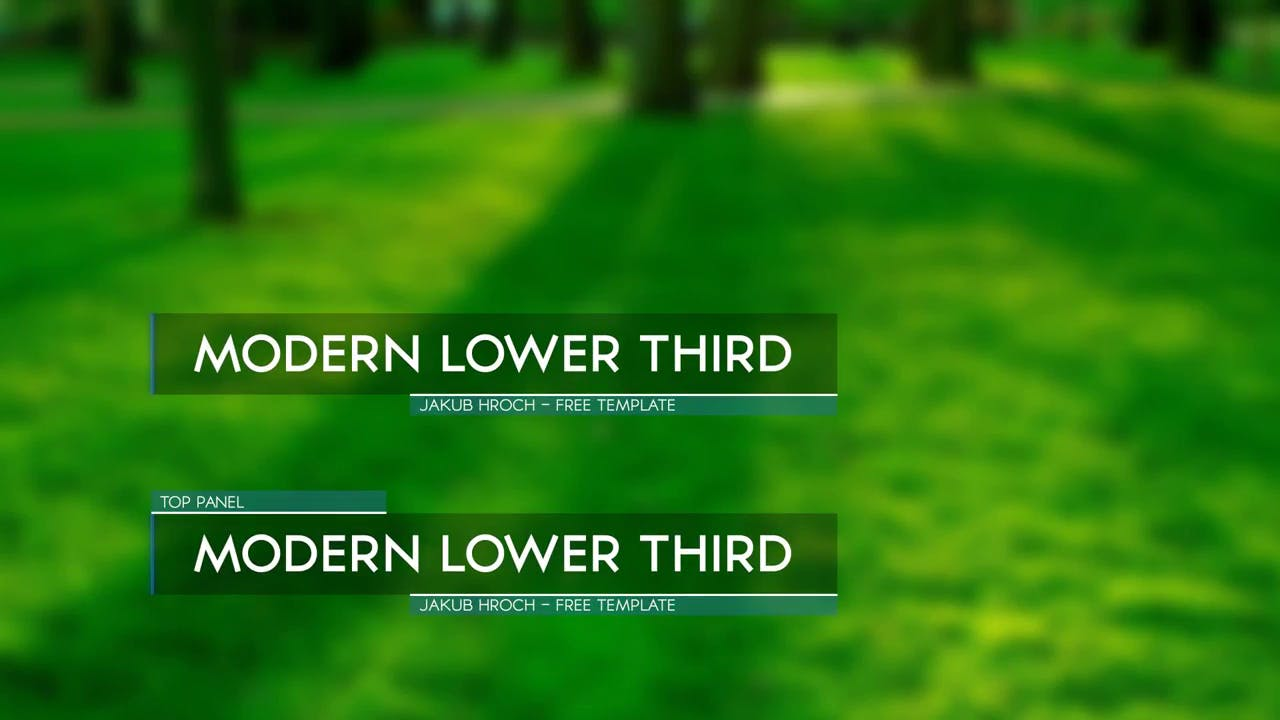 Simple Flat After Effects Lower Third Template