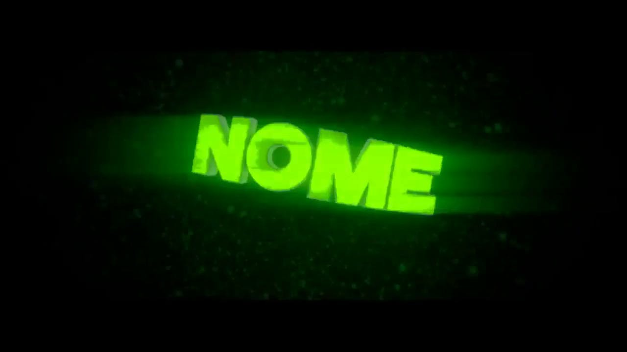 Incredible Neon Green Blender Only Sync Intro template