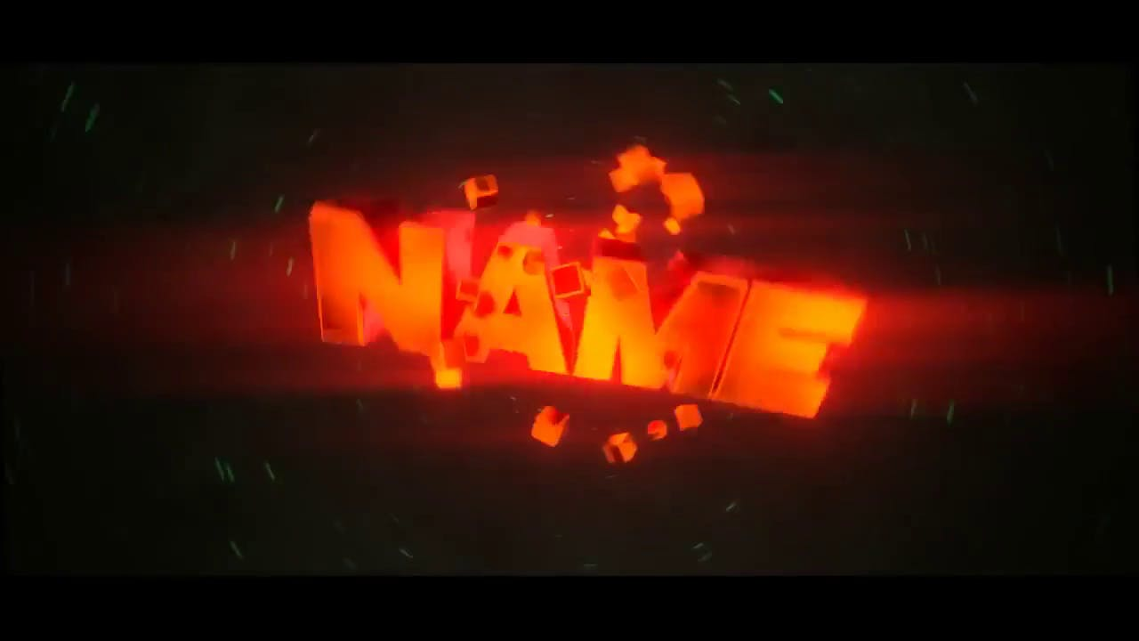 Fiery Orange Blender Only Intro template