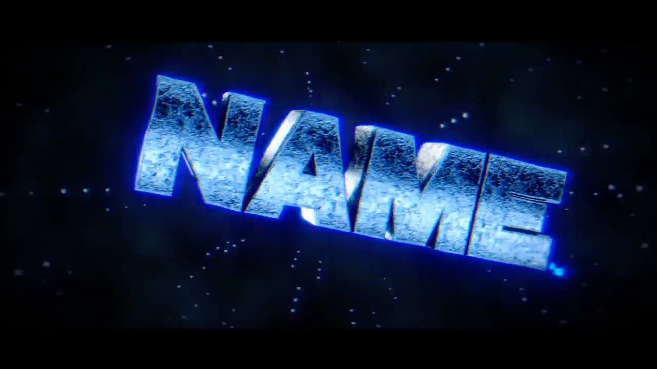 Glowing Blue Blender Only Intro template