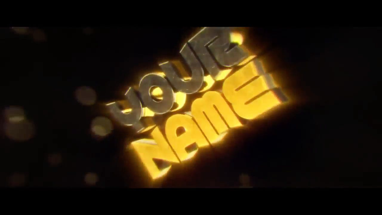 Amazing Gold Cinema 4D After Effects Sync Intro template