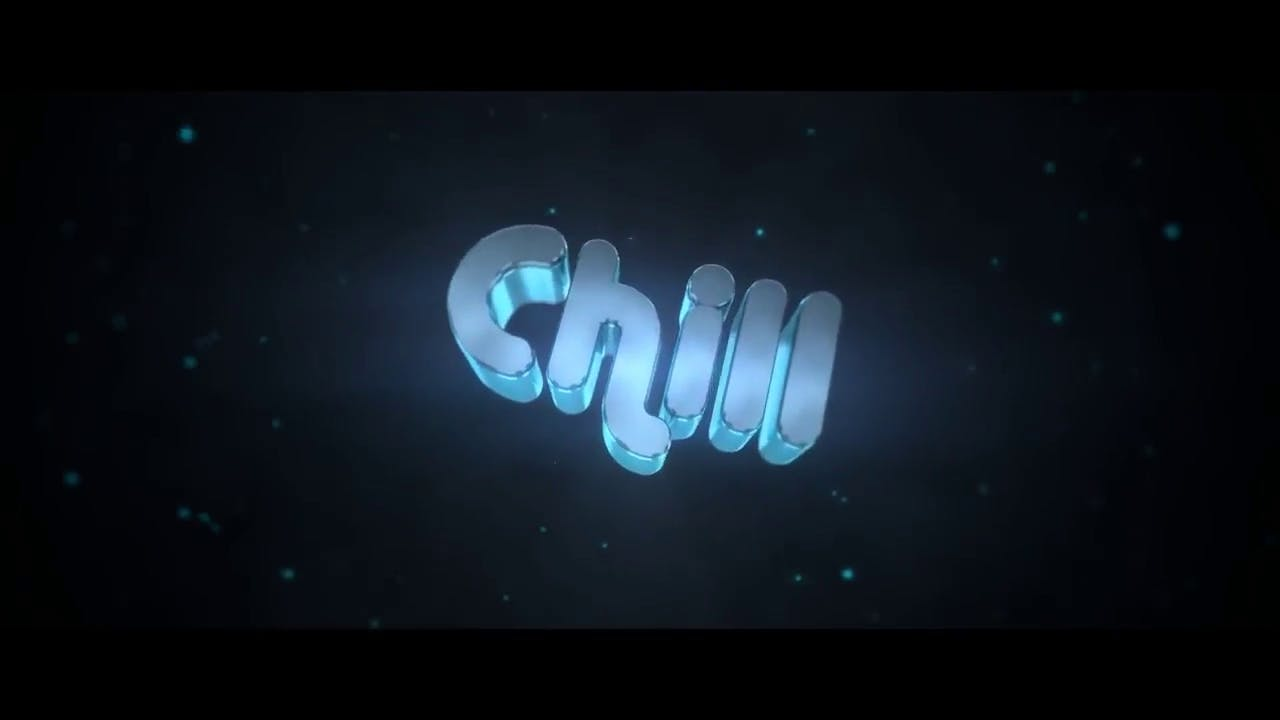 Blue Chill 3D Blender Only Intro template