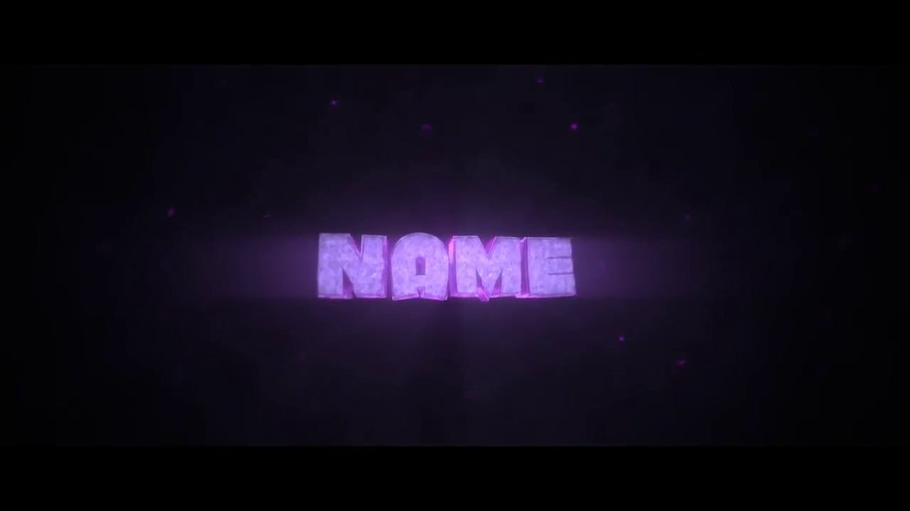Cool Purple Chill 3D Blender Only Intro template