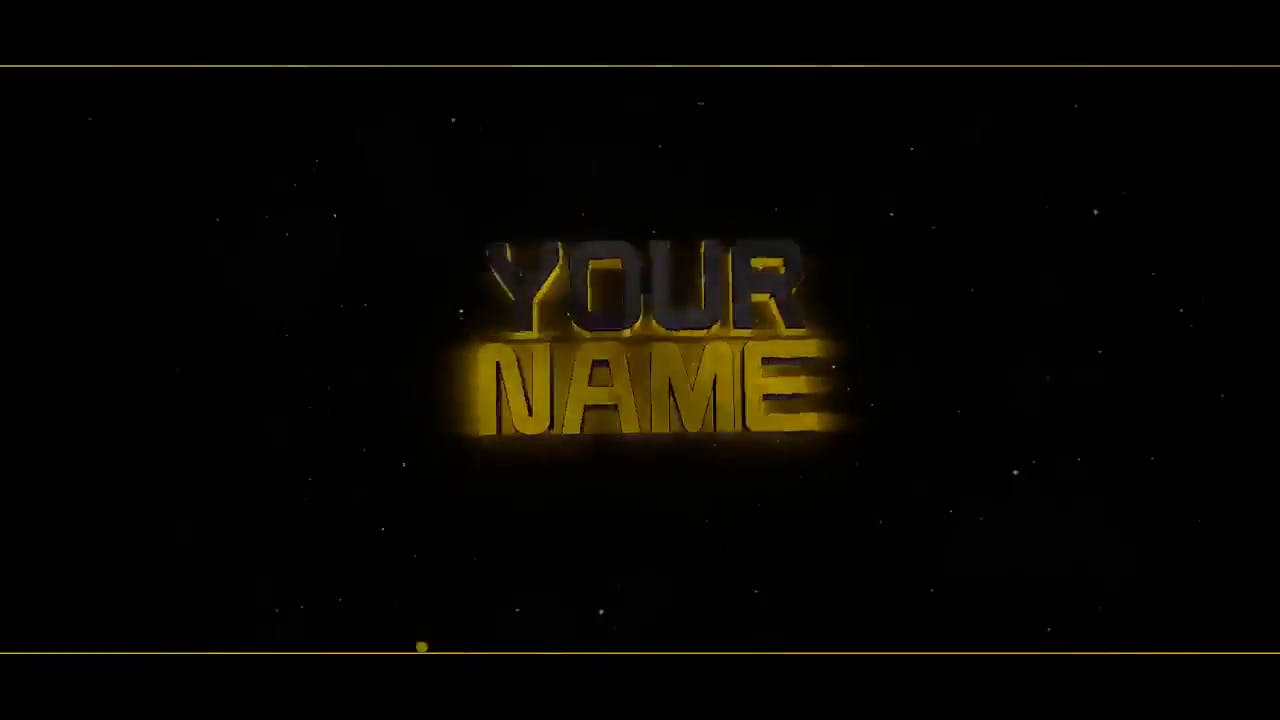 Black Gold Blender Only Intro template