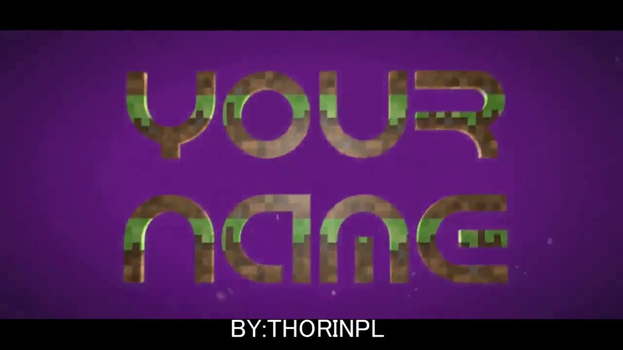 Cool Purple Minecraft Sony Vegas Intro Template