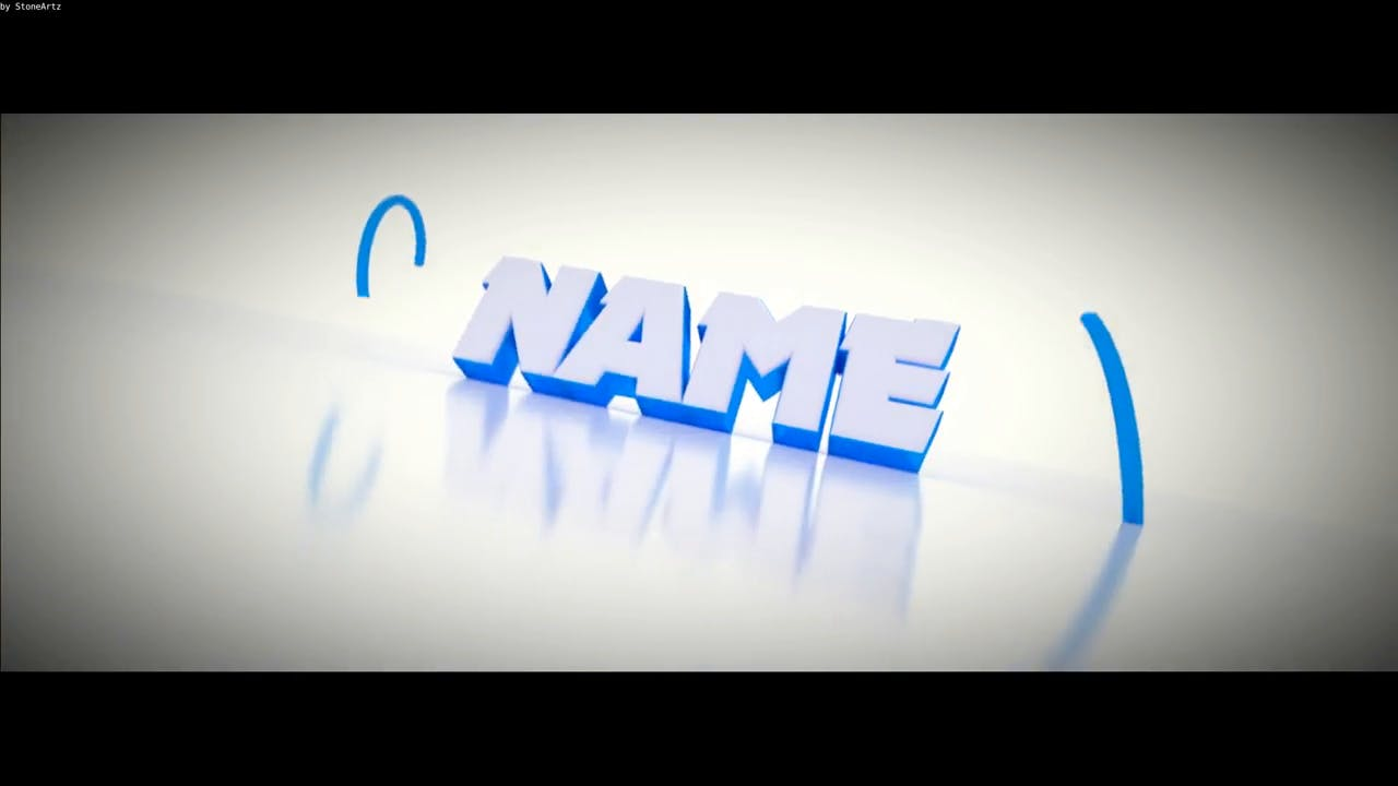 Clean White Blender Only Intro template