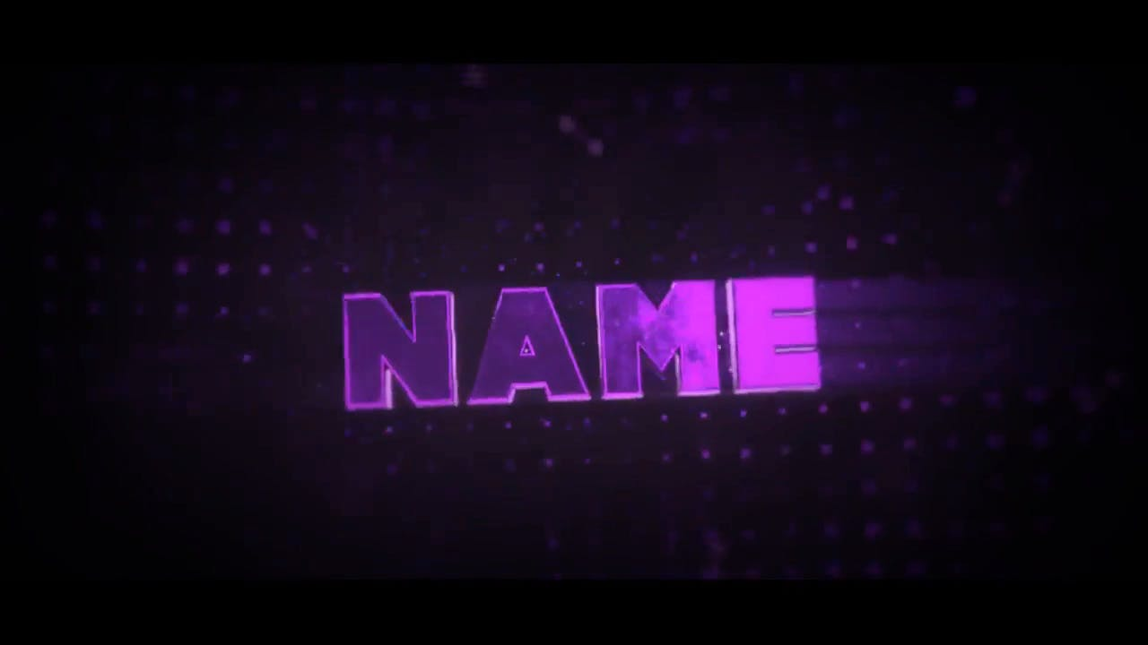 Cool Glossy Purple Blender Only Intro template