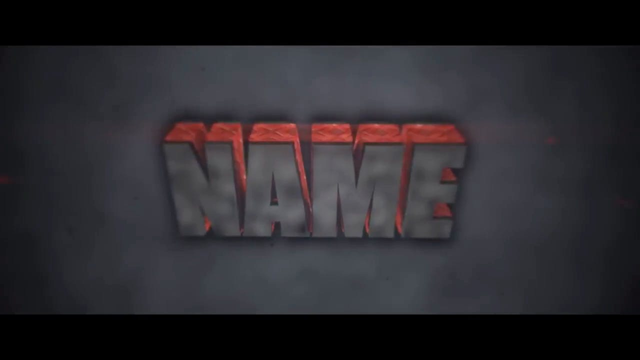 Red Black Charcoal Blender Only Intro template