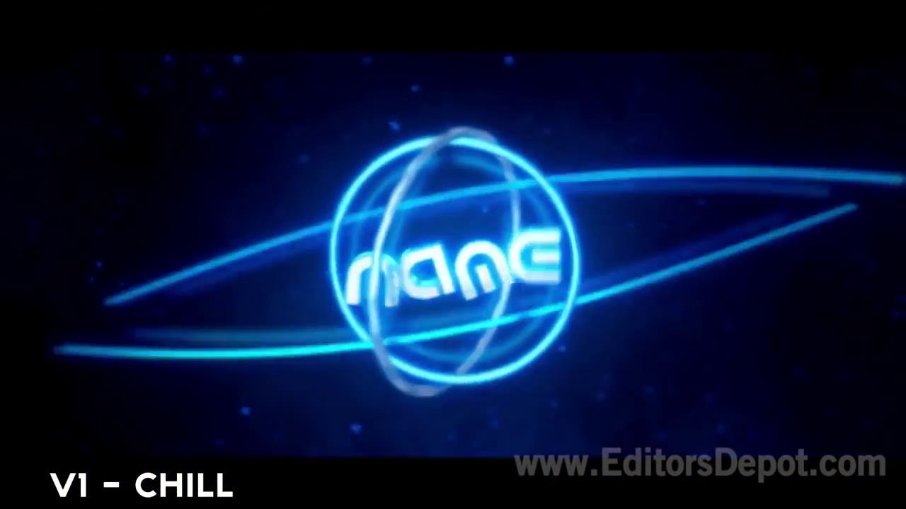 Free Blue Glowing SyncChill Intro Template