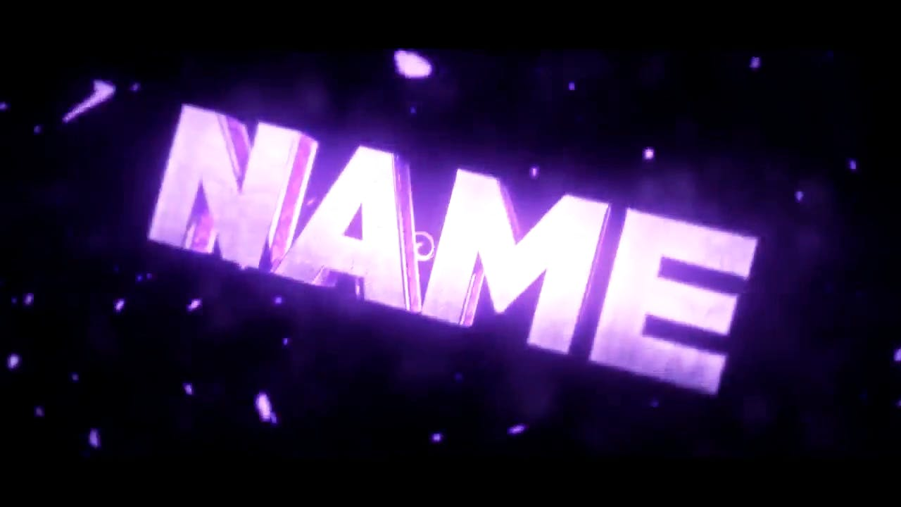 3D Sparkling Purple Cinema 4D After Effects Intro template