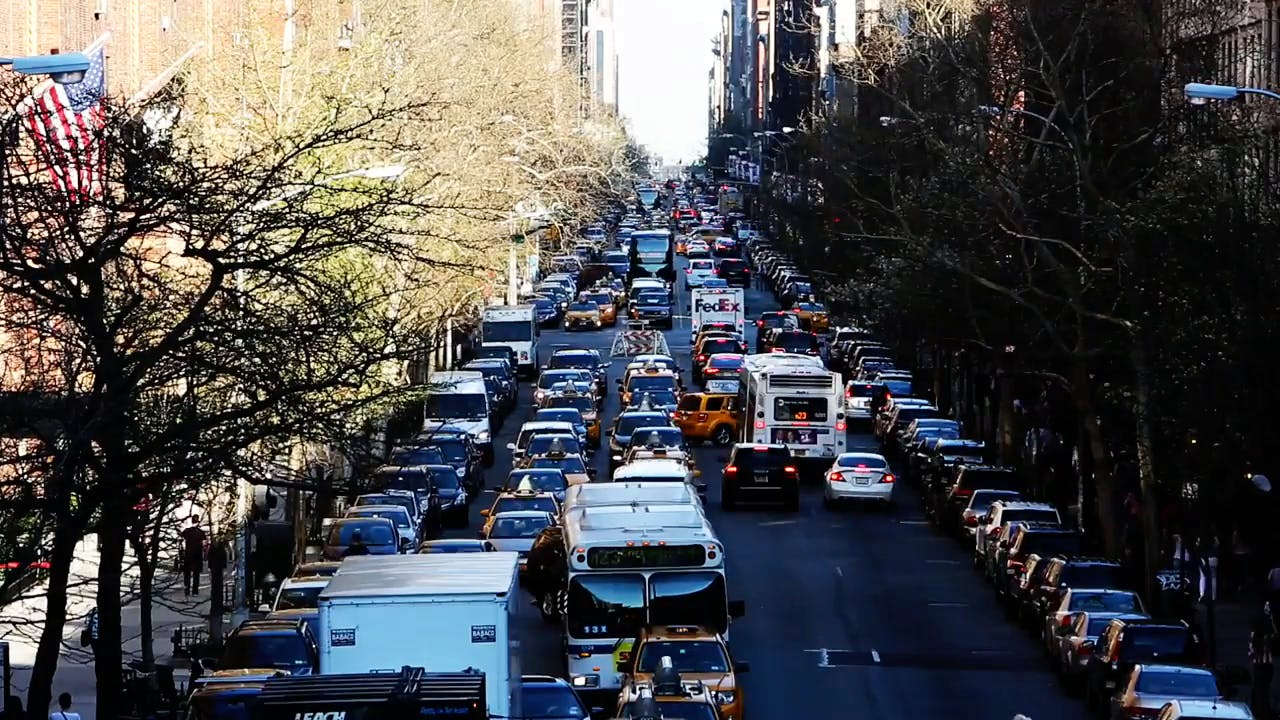 Traffic Jam on New York City Streets