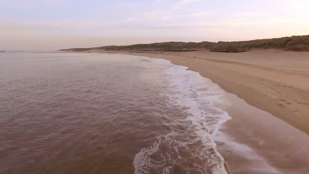 Beach Aerial stock video clip