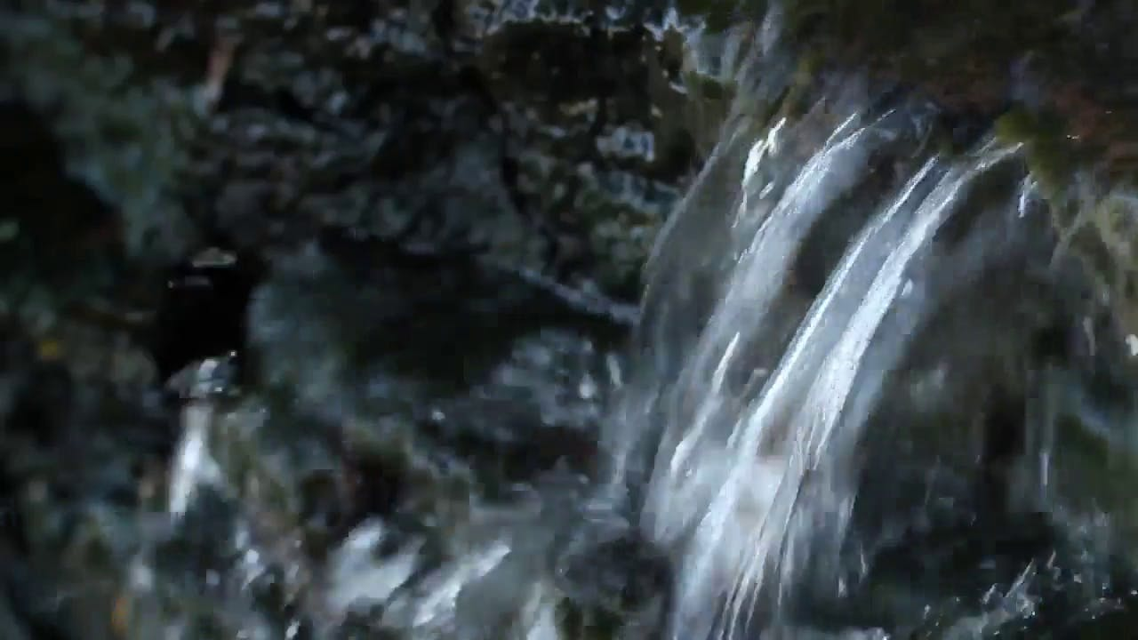 Small Waterfall in a Stream video clip