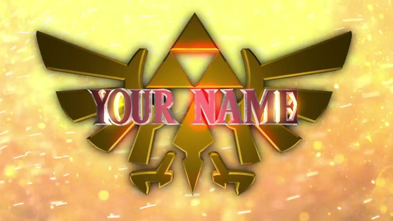 AFTER EFFECTS C4D Triforce FREE 3D Zelda Intro Template