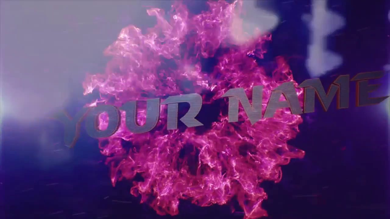AFTER EFFECTS C4D Purple Burst FREE 3D Intro Template