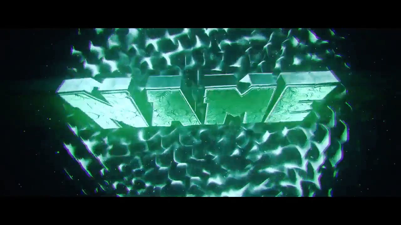 Stylish Cool Green Cinema 4D After Effects Intro template