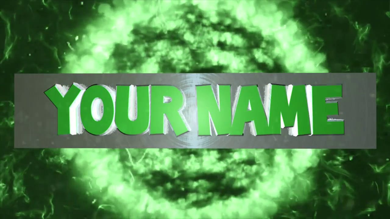 AFTER EFFECTS C4D Green Burst FREE 3D Intro Template