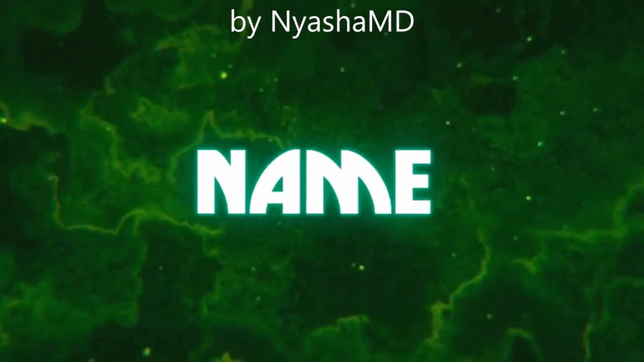 Amazing Green Background Sony Vegas Intro template