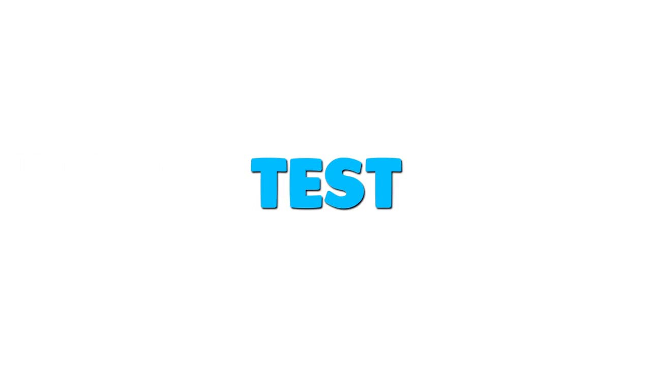 Clean White Blue text 2D After Effects
