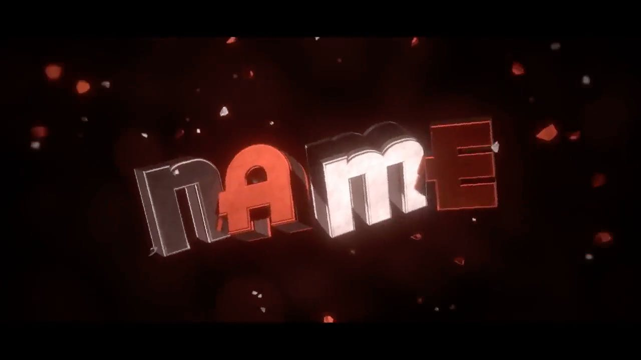 Amazing Red SYNC Blender Only Intro template