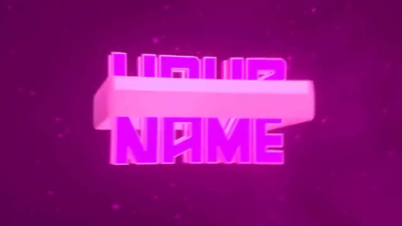 Free 3D Spinning EDM Intro Template