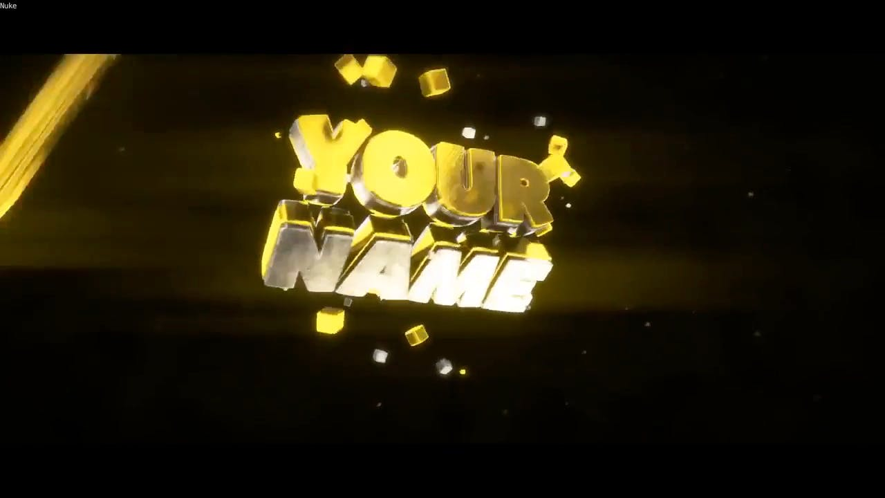Free Shiny Yellow Blender Only Intro template