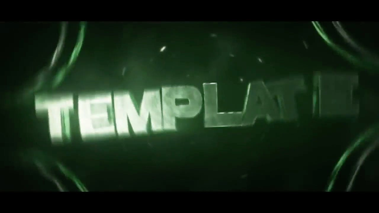 Free Shiny Green Cinema 4D After Effects Intro Template