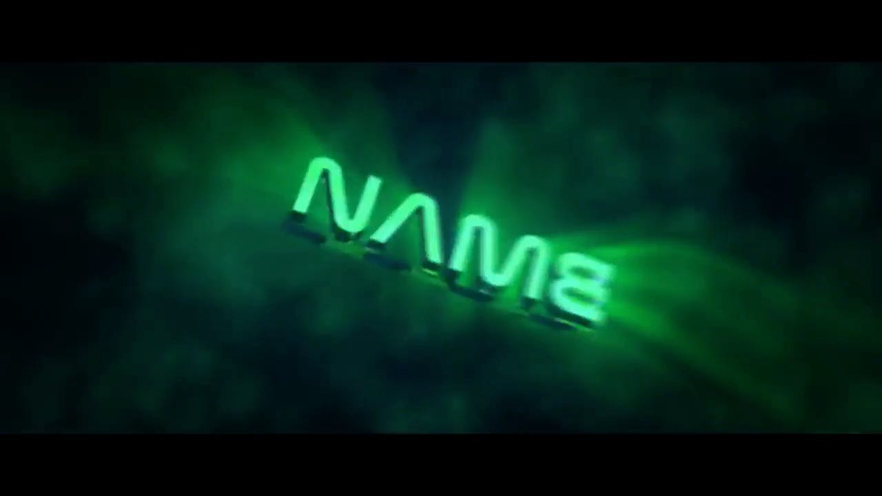 Free Glowing Green Cinema 4D After Effects Intro Template